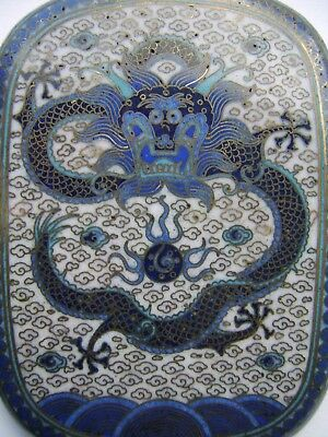 Fine Chinese Antique Cloisonne Box Cigarette Case - Imperial Dragon Very Rare