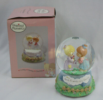 """Precious Moments Musical Waterball Snowglobe Good Friends are Forever """"Memories"""""""