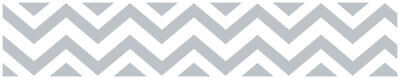 Sweet Jojo Gray & White Chevron Kids Wall Paper Border Zig Zag Room Wallcovering