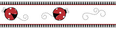 Sweet Jojo Designs Polka Dot Ladybug Bug Baby Kid Wall Paper Border Wallcovering