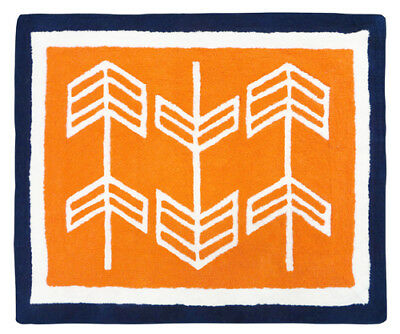 Baby Kid Floor Rug For Sweet Jojo Designs Navy Blue Orange Arrow Bedding Sets