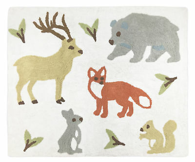 Baby Kid Floor Rug For Sweet Jojo Woodland Forest Animal Toile Bedding Set
