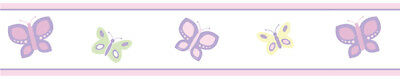 Sweet Jojo Designs Pink Purple Dragonfly Baby Kid Wall Paper Border Wallcovering