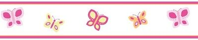 Sweet Jojo Designs Pink Orange Dragonfly Baby Kid Wall Paper Border Wallcovering