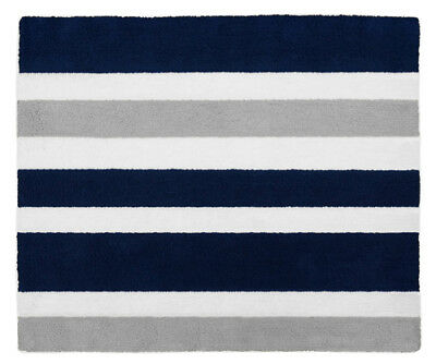 Kid Floor Rug For Sweet Jojo Designs Modern Navy Blue And Gray Stripe Bedding