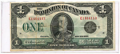 1923 Dominion of Canada $1 Note Black Seal Group 4E Sig: Campbell & Clark