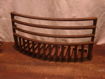 Vintage/Antique LATE 1800'S Cast Iron Fireplace Grate Insert Log Holder CURVED