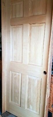"Radiata Clear Pine 4 Panel Pre-Hung Interior Door, Solid Wood, 36"" x 84"""