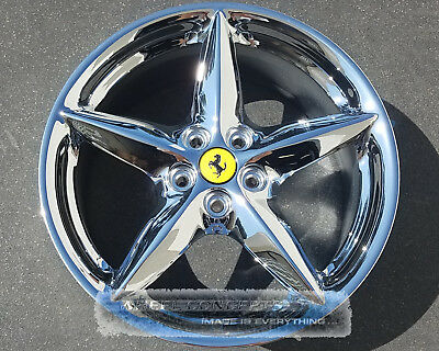 Ferrari 360 Modena Spider 18 Inch Staggered Chrome Wheels Rims Oem 18X7.5 18X10