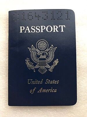 Vintage Expired US Passport 1987 With Photo And Stamps