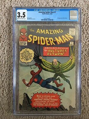 Amazing Spider-Man #7 - CGC 3.5 - 2nd App. Of The Vulture - Marvel Comics 1963