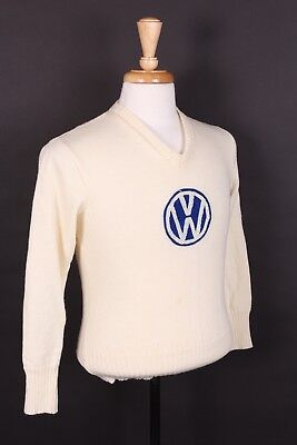 Vtg 60S Volkswagen 100% Wool Sweater Usa Mens Size Small