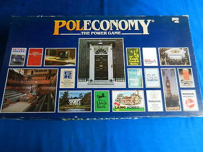 POLECONOMY Vintage Board Game The Power Game 1983