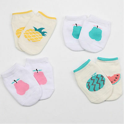 Cute Baby Fruit Cotton Socks Anti-slip Infant  Toddler Kids Baby Boy Girl SockS