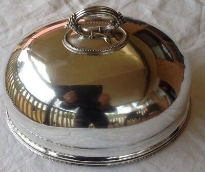 Vintage James Dixon & Sons Beautiful SilverPlate Meat/Food Dome - Hallmarked