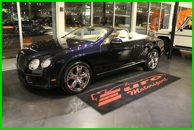 2013 Bentley Continental GT Well equipped only $7k miles Dark blue metallic over tan hides Immaculate only 7k miles