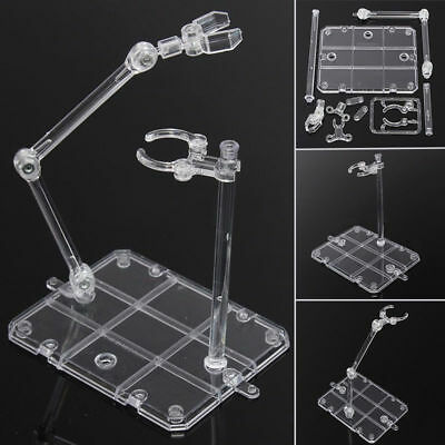 Clear Display Stand For 1/144 HG/RG Gundam Figure Model Toy Action Base Suitable