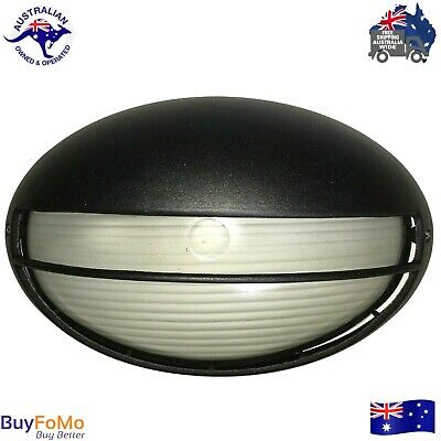 Outdoor wall mounted eyelid bunker light, black LED compatible- new!