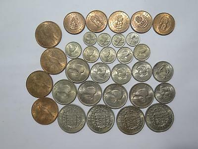 New Zealand Half Crown Shilling Florin Penny Pence Type Old Coin Collection Lot