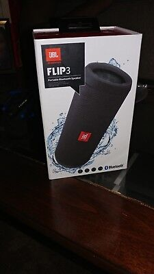 New JBL Flip 3 Splashproof Portable Wireless Bluetooth Speaker Black