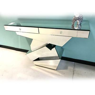 NEW Ariane 2 Drawer Mirrored Console Luxury Mirrors