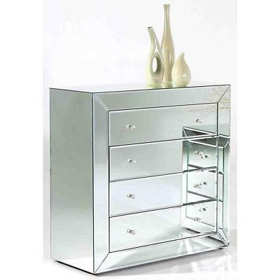 NEW Loire 4 Drawer Mirrored Chest of Drawers Luxury Mirrors
