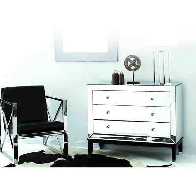 NEW Loire 3 Drawer Mirrored Chest of Drawers Luxury Mirrors