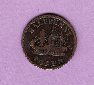Half Penny Token - Fisheries and Agriculture - Canada Token