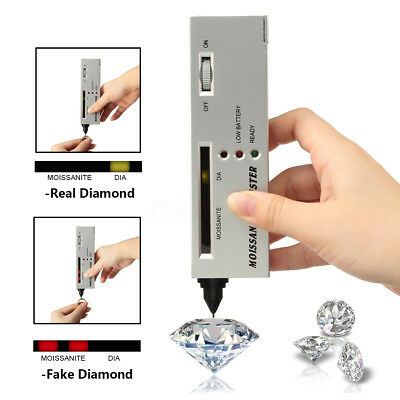 Professional Diamond Tester Moissanite Gemstone Jewelry LED Detector Audio Tool