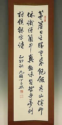 "CHINESE HANGING SCROLL ""Calligraphy""  @e666"