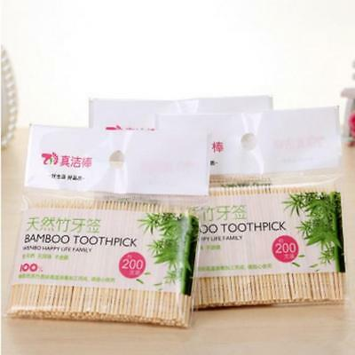 200pcs Bamboo Dental Unique Teeth Toothpicks Stick Oral Care Tooth Clean New J