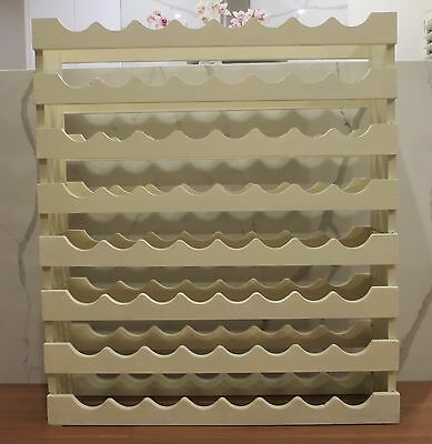Newly Painted Solid Pine Timber Wine Rack Holds 64 Bottles