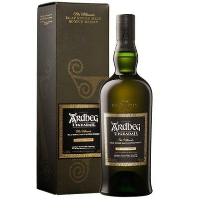 Ardbeg `Uigeadail` Single Malt Scotch Whisky (6 x 700mL giftboxed), Islay.