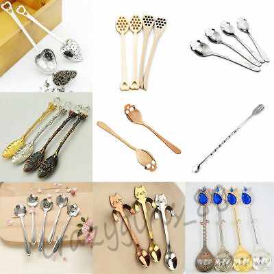 8 Styles Skull Cat Coffee Tea Mixing Spoon Cocktail Stirring Hanging Tableware