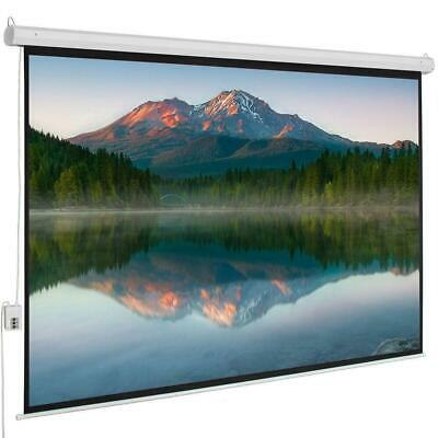 "100"" 4:3 80"" x 60"" Viewing Area Motorized Projector Screen with Remote Control"