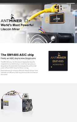 **September ** Bitmain Antminer L3+ miner with ++PSU - Scrypt coin miner