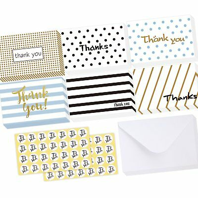 Ohuhu 36 Pack Brown Kraft Paper Thank You Cards W/ 36 Envelopes