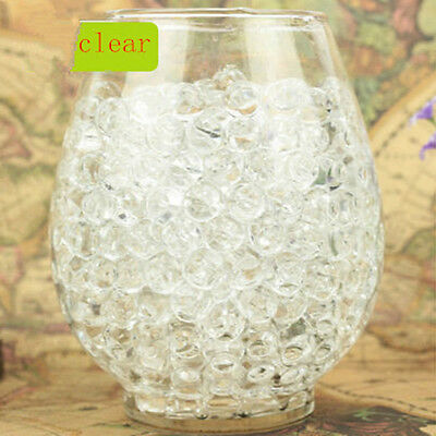 100Pcs Clear Water Gel Beads Pearls Sooper Beads Decoration Vase Filler Fashion