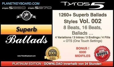 1260+ New Superb Ballad Yamaha Styles For Yamaha Genos & Yamaha Tyros 5 S975