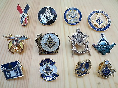 Hot sell Lot of 12 PCS  Masonic Lapel Pins Badge Mason Freemason B4