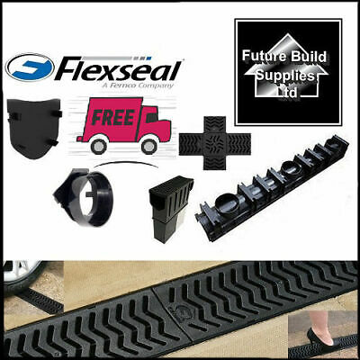 Heavy Duty PVC Heelguard Channel Drainage Length 1m Quadbox Endcap & Outlet