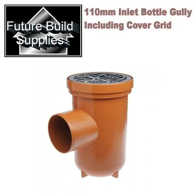 110mm Underground Drainage Single Inlet Bottle Gully Including Circular Grid