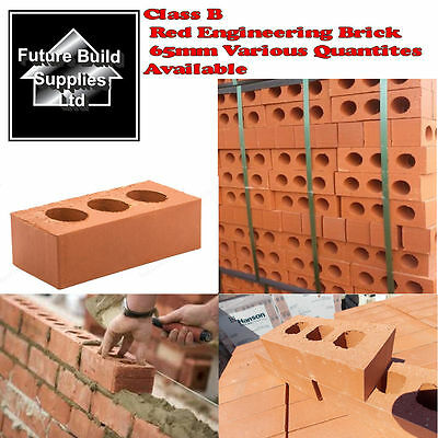 Perforated Class B Red Engineering Brick 65mm Length 215MM X Width 102MM