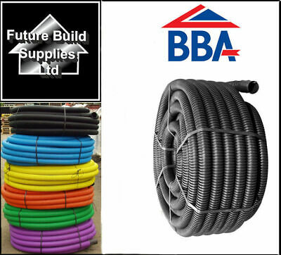 Twinwall Cable Ducting with Drawstring Black, Blue, Yellow, Green, Red Flexible