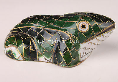 Chinese Cloisonne Enamel Frog Art Statue Figurine Collectable