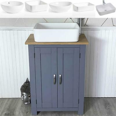 Cloakroom Small Slimline Grey Bathroom Vanity | Ceramic Basin Choice 310