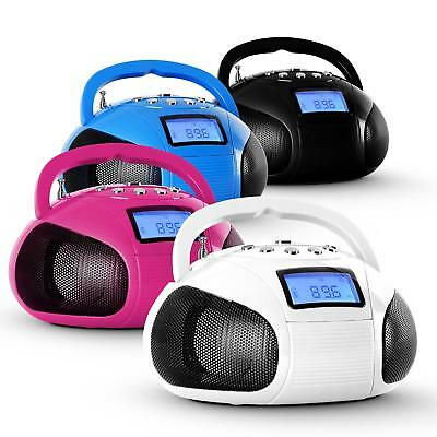 Oneconcept Bamboombox Bluetooth Mini Kinderzimmer Ukw Radio Boombox Mp3 Usb Aux