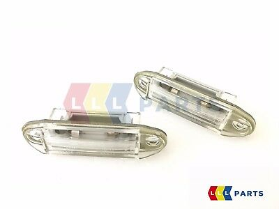 New Genuine Mercedes Benz Mb W123 C123 Licence Number Plate Light Set Pair 2Pcs