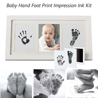 DIY Baby Hand Foot Ink Pad Imprint Print Ink Kit Photo Frame Footprint Cast Gift