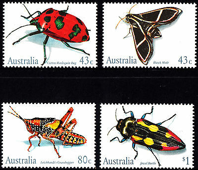 Australia 1991 Insects Complete Set of Stamps MUH